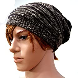 Mily Cool Mens Beanie Winter Skullcap Top Hat Coffee