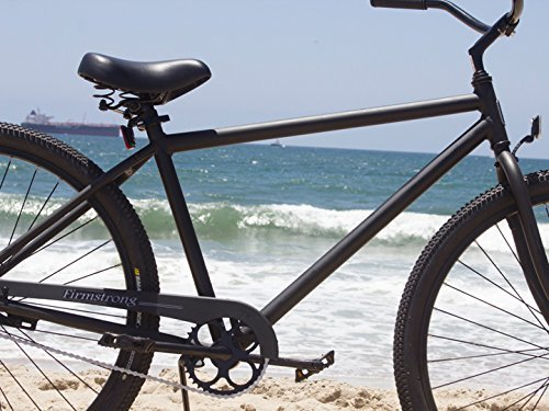 Firmstrong Black Rock Men's Single Speed Beach Cruiser Bicycle, 29-Inch, Matte Black 2