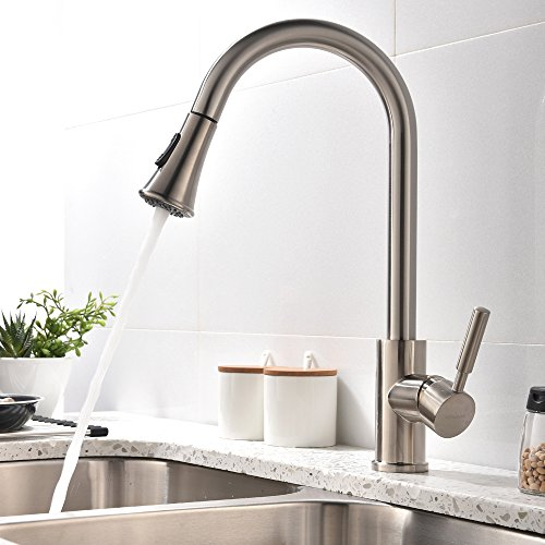 Hotis Home Touch On Kitchen Sink Faucets Modern Swivel