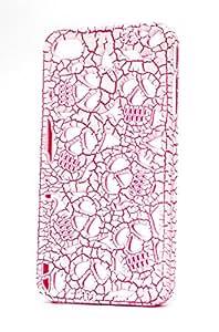 Fonokase Skull Series Case For I Phone 4 S - White / Pink