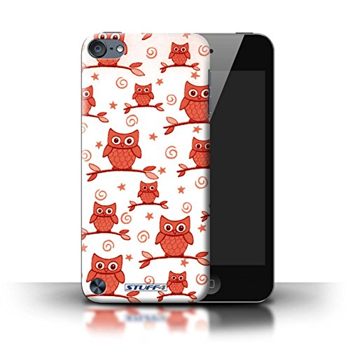 Stuff4 Phone Case / Cover For Apple Ipod Touch 5 (5Th Generation) / Red/White Design / Cute Owl Pattern Collection / By Deb Strain / Penny Lane Publishing, Inc.