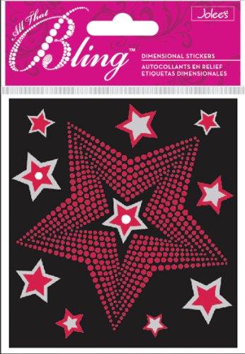 winston-bling-pegatinas-decorativas-diseno-de-estrellas-color-rojo-y-plateado