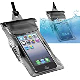 eForCity Universal Waterproof Bag Case for Cell Phone and PDA - Retail Packaging - Black