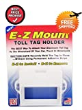 EZ Pass Toll Tag Holder,Fits New & Old Transponder,i-Pass,i-Zoom, White