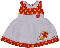 Be BeBo Girl's Cotton Dress (914_3, Yellow, 12-18 months)