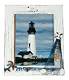 UberLyfe Beach Theme Table Mounted Photo Frame - 15.2cm x 20.3cm - Anchor and Starfish (PF-000618-TMANCSTR46)
