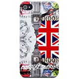 Europe and America - British Tower Hard Case Cover Skin for Apple Iphone 4 4s + Straps + Screen Film