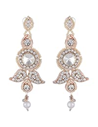 Bel-en-teno White Alloy Earring Set For Women - B00PY9XN8S