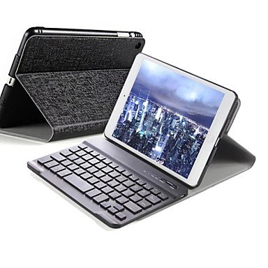 Zaki Hhmm Detachable Bluetooth Wireless Keyboard Thin And Light Cover Stand Case For Ipad Air (Assorted Colors) , Black