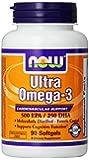 NOW Foods Ultra Omega 3 Fish Oil, 90 Softgels