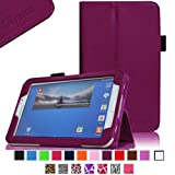 Fintie Folio Classic Leather Case for Samsung Galaxy Tab 3 7.0 inch Tablet - Purple