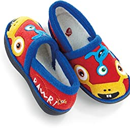 ACORN Kids Applique Moc Slipper,Alien,8-9 M US Toddler