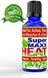 100% Natural Super Maxx Heat Oil by Botanica Studio Treats Sore Muscles & Joints