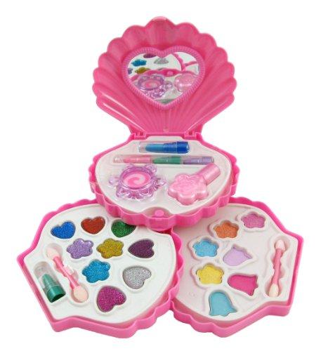 Petite-Girls-Clam-Shell-Shaped-Cosmetics-Play-Set-Fashion-Makeup-Kit-for-Kids