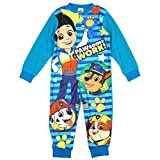 Boys Licensed Paw Patrol Ryder Chase Marshall Micro Fleece Onesies Age 2 to 6 Years (Color: Blue, Tamaño: 3-4 Years)