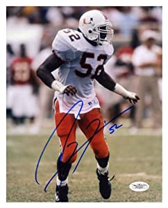 Ray Lewis Miami Hurricanes Autographed 8