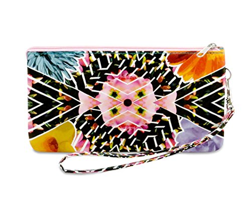 dynomighty-floral-fractal-mighty-wristlet-ditch-the-purse-and-travel-light-water-stain-tear-resistan