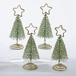 club pack of 48 christmas tree with gold star holiday place card holders. Black Bedroom Furniture Sets. Home Design Ideas
