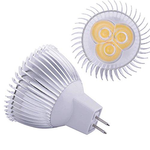 Eonice 12V 6W Mr16 Led Bulb Light, Cool White, 50W Equivalent Mr16 Led Spotlight, Standard Bi Pin Gu5.3 Base, Recessed Lighting, Track Lighting
