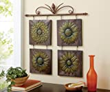 Collections Etc - Antique Sunflower 3D Metal Wall Decor
