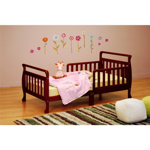 Baby Mile Sleigh Toddler Bed, Cherry front-229762