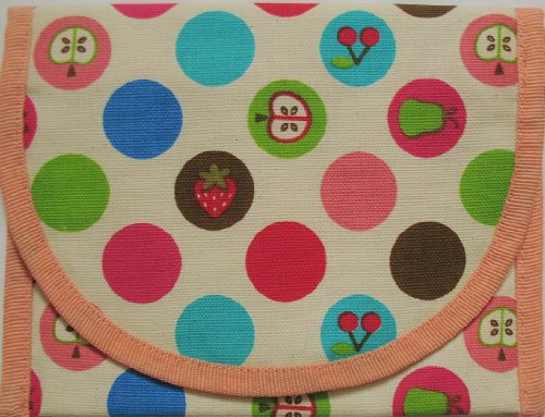 Resnackit Reusable Sandwich and Snack Bag, Pink/Green/Brown