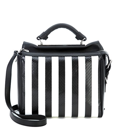 borsa-a-mano-31-phillip-lim-small-ryder-satchel-in-pelle-nera-a-righe-bianche