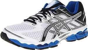 ASICS Men's GEL-Cumulus 15 Running Shoe,White/Black/Royal,9 M US
