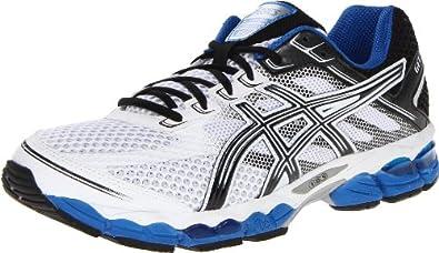 ASICS Men's GEL-Cumulus 15 Running Shoe,White/Black/Royal,7 M US