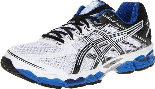ASICS ASICS Men's Gel-Cumulus 15 Running Shoe,White/Black/Royal,10.5 2E US