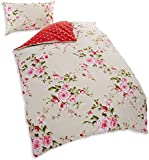 Catherine Lansfield Canterbury Single Quiltset - Red