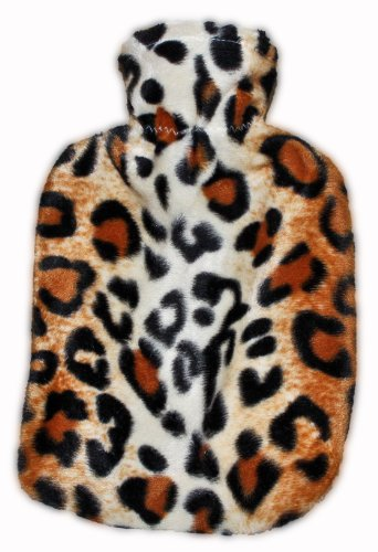 Warm Tradition Leopard Print Covered Hot Water Bottle- Made In Germany
