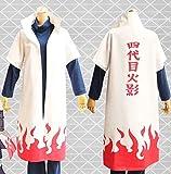 Dream コスプレ セット NARUTO ナルト グッズ 波風ミナト 四代目 火影 マント 木の葉 忍 連合 (白色 L サイズ 170-179cm)DR156