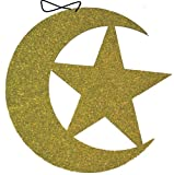 Glitter Moon and Star Hanging (Glitter Gold)