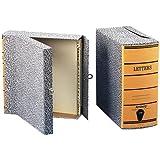 """Pendaflex Box File, 2-1/2"""" Capacity, Letter Size, Black Agate Cover/Orange Spine,1 per Box (40574)"""