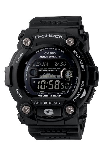 Casio Men's G-Shock GW7900B-1 Black Resin Quartz Watch with Digital Dial
