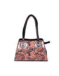 Belomoda Ladies Brown Printed Handbag Or Shoulder Bag
