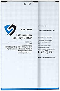 Samsung Galaxy Note 4 Battery : Stalion® Strength Replacement 3220mAh Li-Ion Battery for SM-N910 [24-Month Warranty] 2X Batteries + Stalion® Power Travel Battery Charger + USB Port (NFC Chip + Google Wallet Capable)