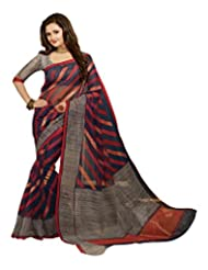 Inika Bhagalpuri Art Silk Saree(12542_Red)