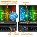 1DIN Autoradio CREATONE CTN-8422D26b mit GPS Navigation, Bluetooth, DVD-Player, Touchscreen und USB/SD-Funktion