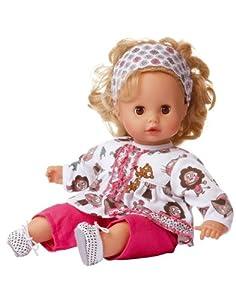 gotz muffin baby doll 33cm blond hair soft body