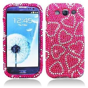 Aimo Wireless SAMI9300PCDI069 Bling Brilliance Premium Grade Diamond Case for Samsung Galaxy S3 i9300 - Retail Packaging - Hot Pink