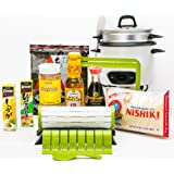 Sushiquik Complete Sushi Making Starter Kit with Aroma Rice Cooker