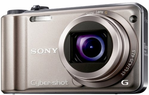 Sony DSCHX5VN Cyber-shot Digital Camera - Silver (10MP, 10x Optical Zoom) 3 inch LCD