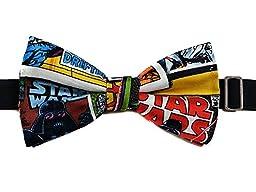 Star Wars Comic Book Mens Bow Tie--adjustable Neck Strap, Pre Tied--comic Con