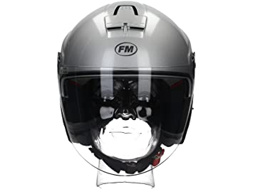 Fm rS41030XS casque jet à visière taille xS (argent)