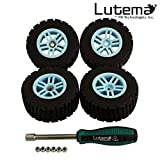 Lutema Hyp-R-Baja 2.4Ghz Baja King Complete Set Of Color Wheels With Tires - Blue