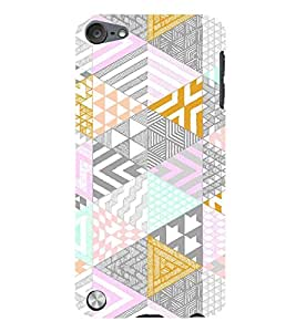 Triangular Pattern 3D Hard Polycarbonate Designer Back Case Cover for Apple iPod Touch 6