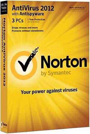 Norton Antivirus 2012, 3 Computers, 1 Year Subscription (PC)