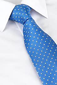 Ultimate Performance Pure Silk Textured Spot Woven Tie